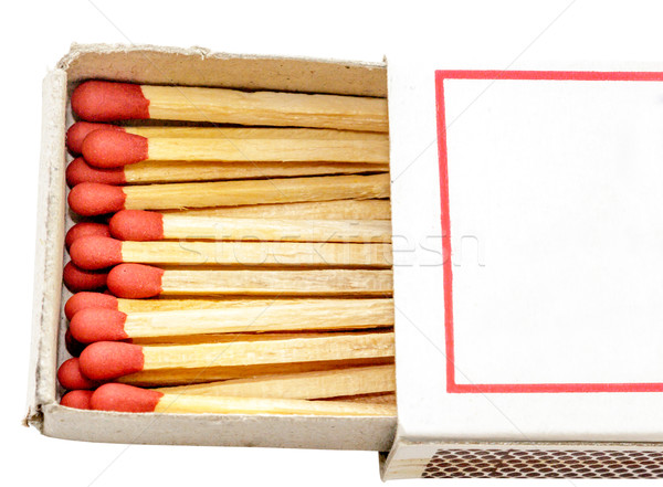 Half match box isolate Stock photo © Bunwit