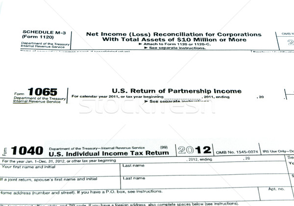 Tax forms 1040,1120,1065 Stock photo © Bunwit