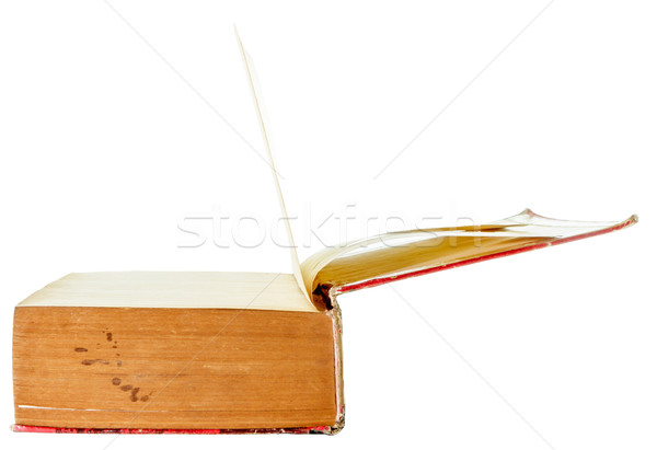 Open old book  isolated Stock photo © Bunwit