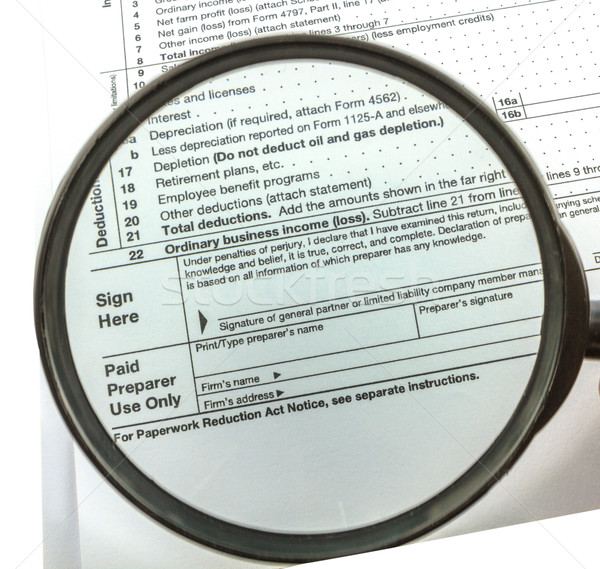 Expansion Tax form  Stock photo © Bunwit