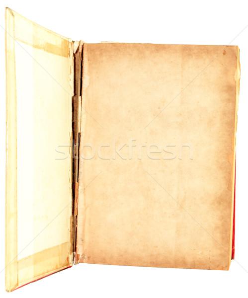 Velho livro abrir isolado branco papel fundo Foto stock © Bunwit