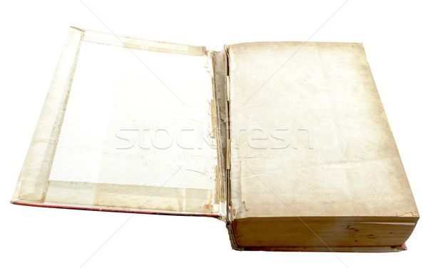 Open old book isolated on white Stock photo © Bunwit