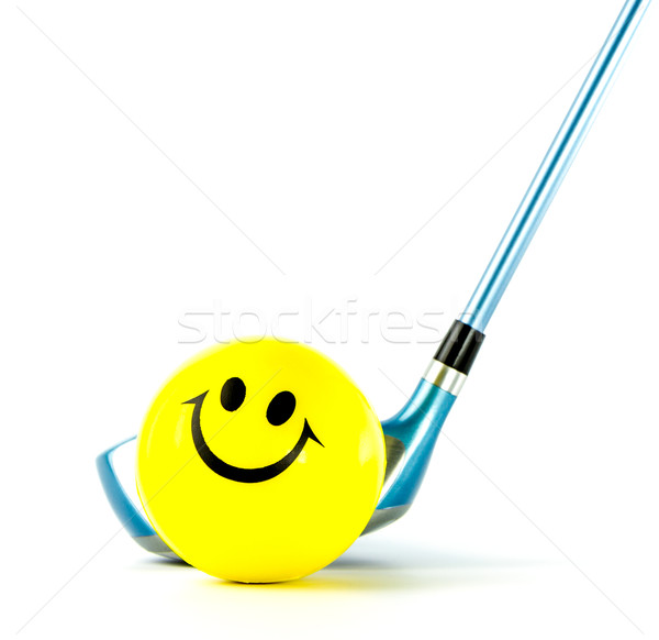 Smile golf club isolated Stock photo © Bunwit