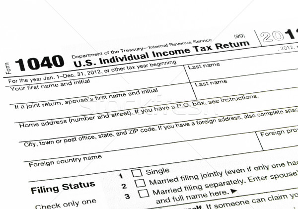 Tax form 1040 for tax year  Stock photo © Bunwit