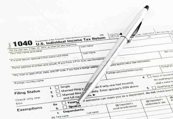 Tax form 1040 for tax year 2012 Stock photo © Bunwit