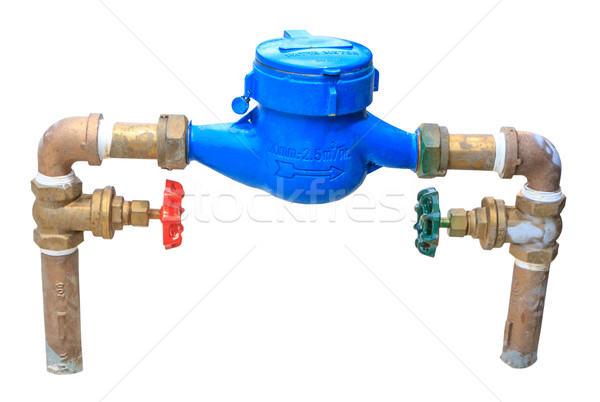 water meter and valve isolate Stock photo © Bunwit