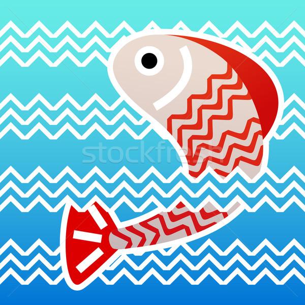 Сток-фото: прыжки · рыбы · воды · морем · океана · весело