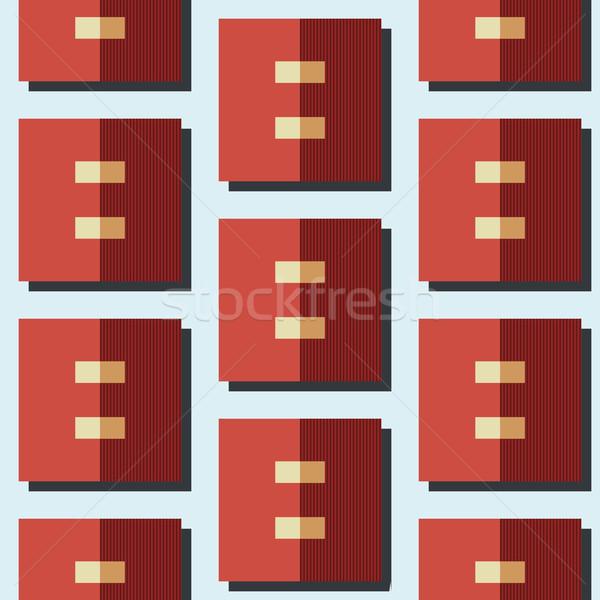 Сток-фото: геометрическим · рисунком · геометрический · квадратный · шаблон · аннотация · дизайна