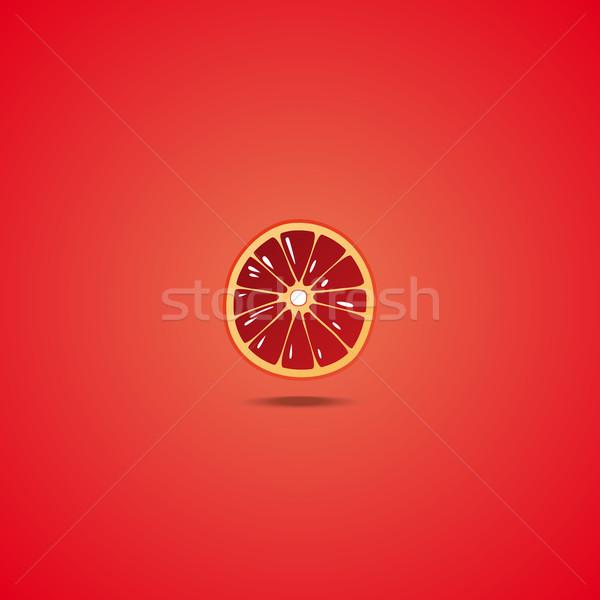 Grapefruit ikon keresztmetszet természet felirat kukorica Stock fotó © Bunyakina_Nady
