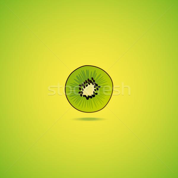 Kiwi fruit icon Stock photo © Bunyakina_Nady