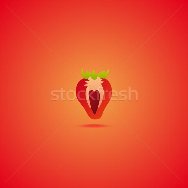 Strawberry icon Stock photo © Bunyakina_Nady