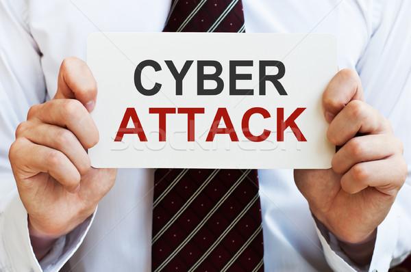 атаковать карт рук бизнеса стороны интернет Сток-фото © burtsevserge