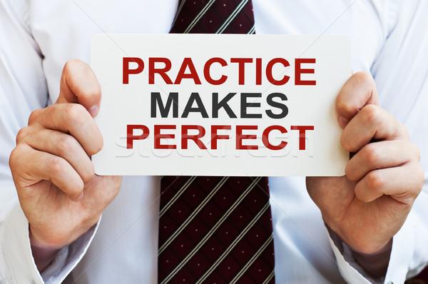 Practice Makes Perfect Stock photo © burtsevserge