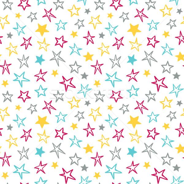Seamless pattern with stars Stock photo © burtsevserge