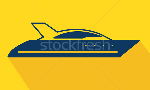 Stock photo: Vector yacht logo icon