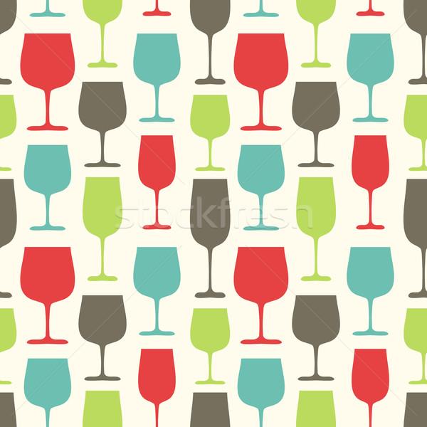 Copos de vinho lata usado papel de parede Foto stock © burtsevserge