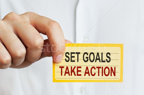 Stock photo: Set Goals, Take Action