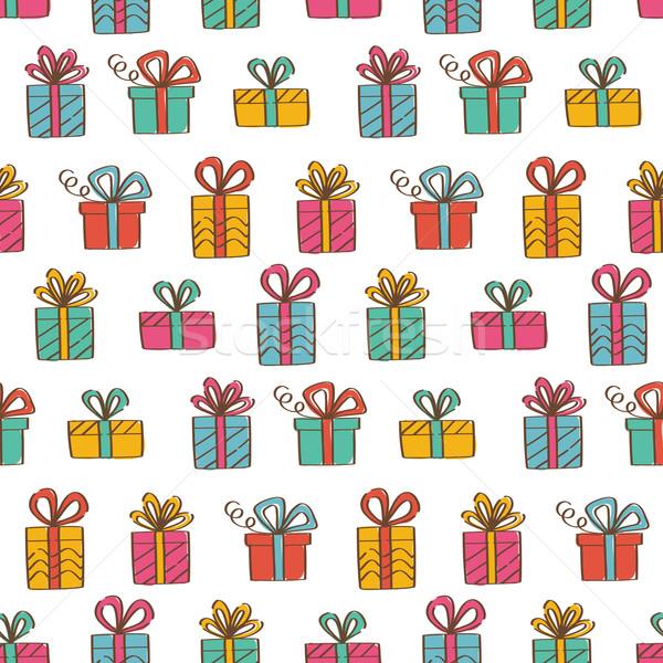 Hediye kutuları vektör dizayn örnek soyut Stok fotoğraf © burtsevserge