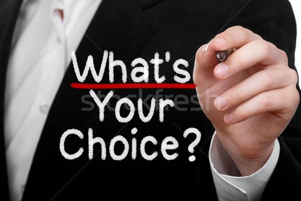 Ne seçim adam yazı soru işadamı Stok fotoğraf © burtsevserge
