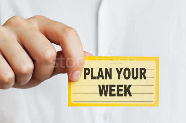 Stock photo: Plan Your Week