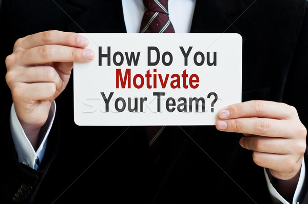 How Do You Motivate Your Team Stock photo © burtsevserge
