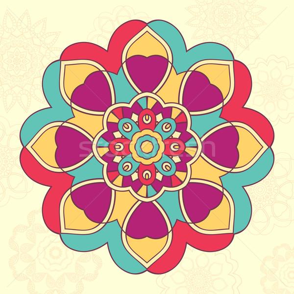 Mandala islão árabe indiano étnico ornamento Foto stock © burtsevserge