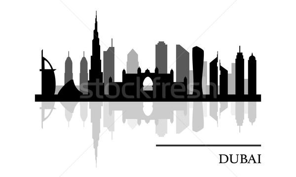 Dubai skyline panoramic view Stock photo © burtsevserge