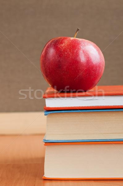 Books And Red Apple Stock photo © burtsevserge