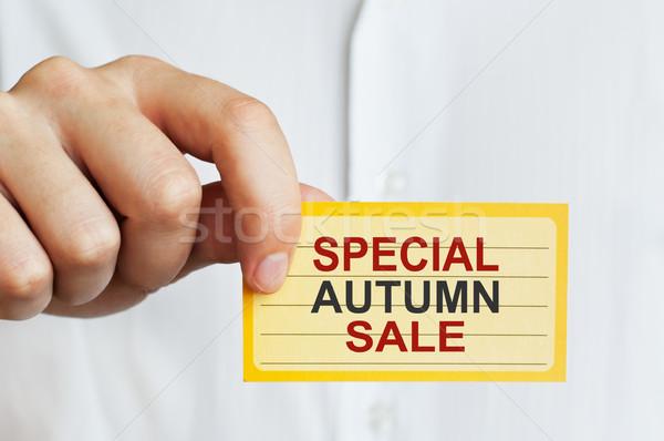 Special Autumn Sale Stock photo © burtsevserge