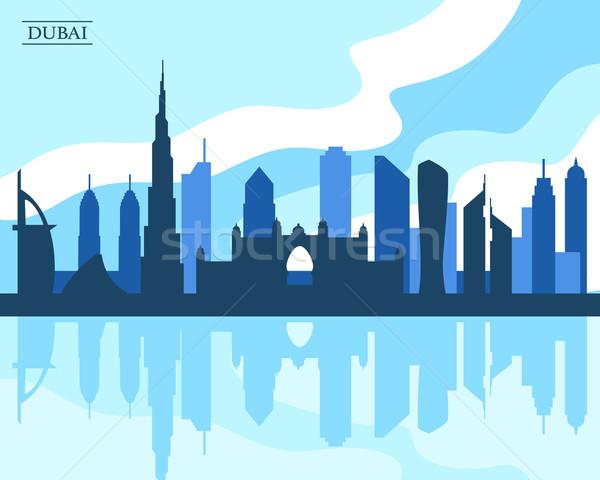 Dubai linha do horizonte estilo moderno projeto negócio Foto stock © burtsevserge