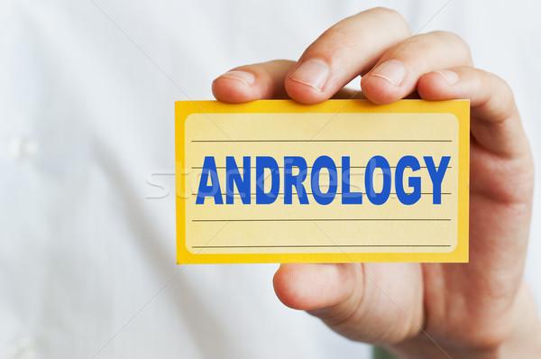 Andrology concept Stock photo © burtsevserge