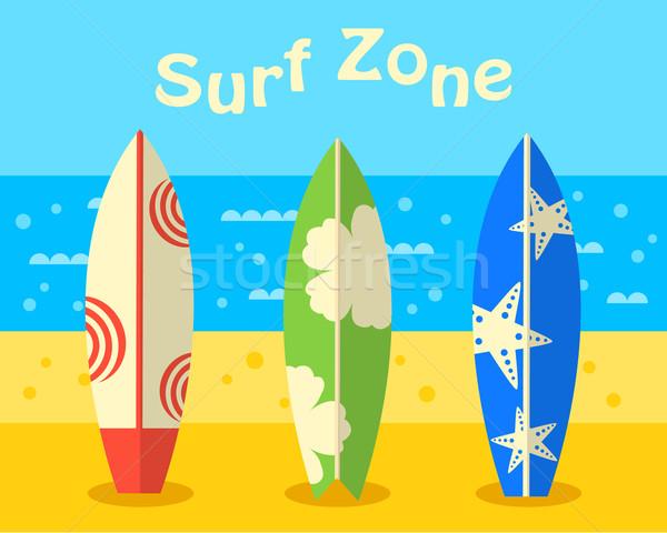 Spiaggia surf natura sfondo estate Foto d'archivio © burtsevserge