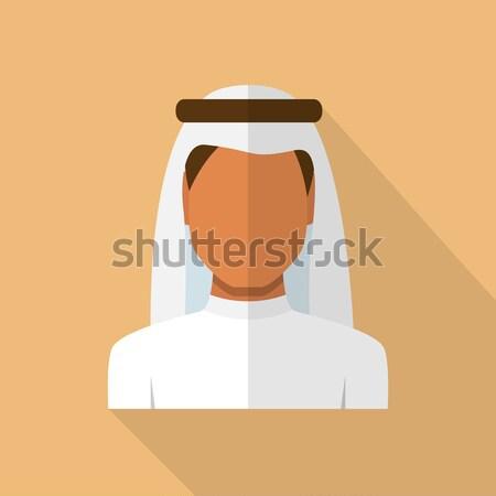 Arabic man and woman set Stock photo © burtsevserge