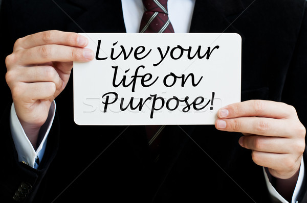 Live Your Life on Purpose! Stock photo © burtsevserge