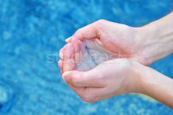 Umani mani acqua uomo Foto d'archivio © burtsevserge