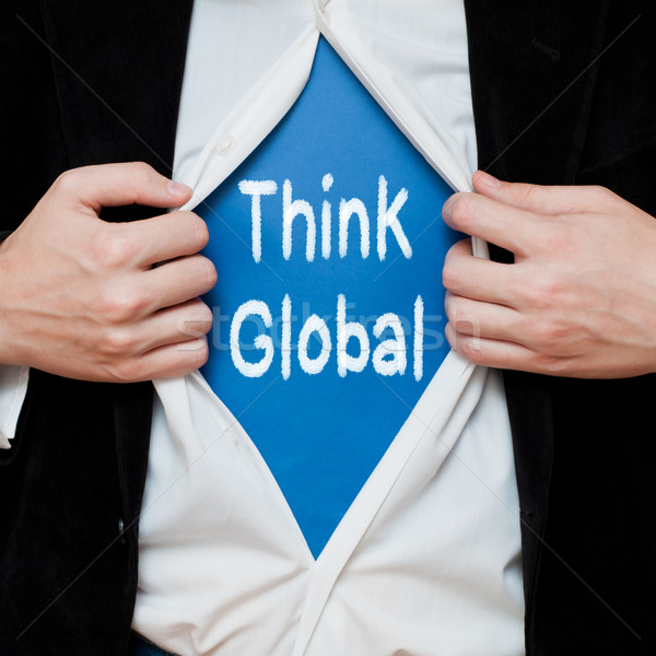 Stock photo: Think Global Concept