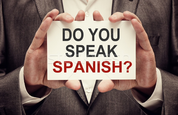 Stock photo: Do You Speak Spanish