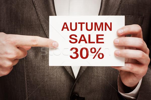 Autumn Sale 30 Percent Off Stock photo © burtsevserge