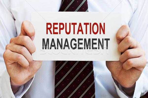 Yönetim kart erkek eller iş arka plan Stok fotoğraf © burtsevserge
