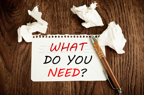 What Do You Need? Stock photo © burtsevserge