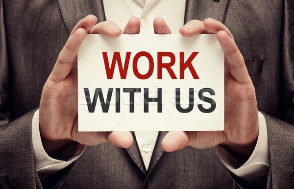 Work with us Stock photo © burtsevserge
