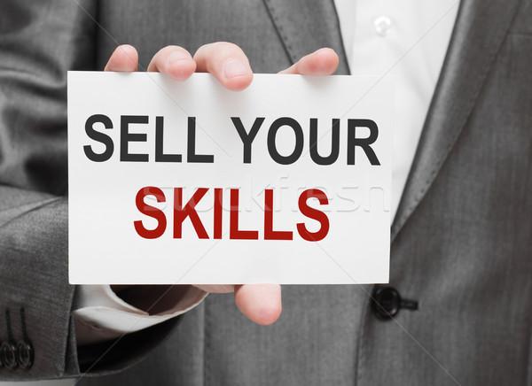 Sell Your Skills Stock photo © burtsevserge