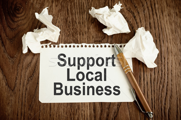 Support Local Business Concept Stock photo © burtsevserge