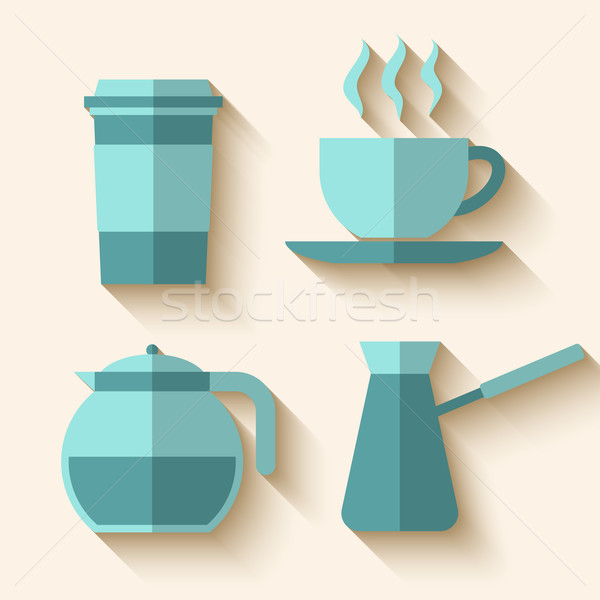 Foto d'archivio: Caffè · lungo · ombra · design · sfondo