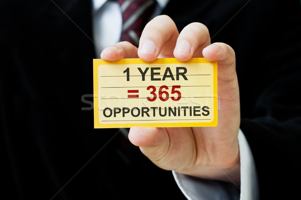 1 year equals 365 opportunities Stock photo © burtsevserge