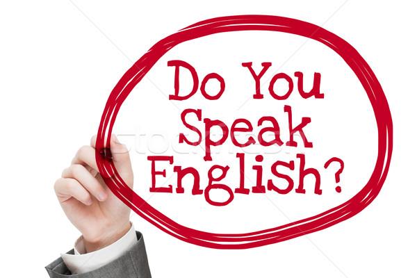 Do You Speak English Stock photo © burtsevserge