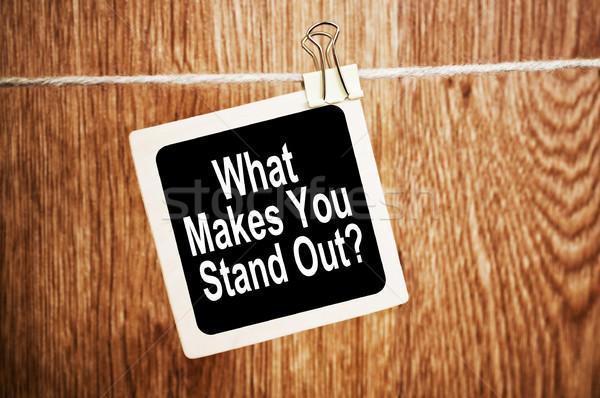 O que texto lousa negócio parede Foto stock © burtsevserge