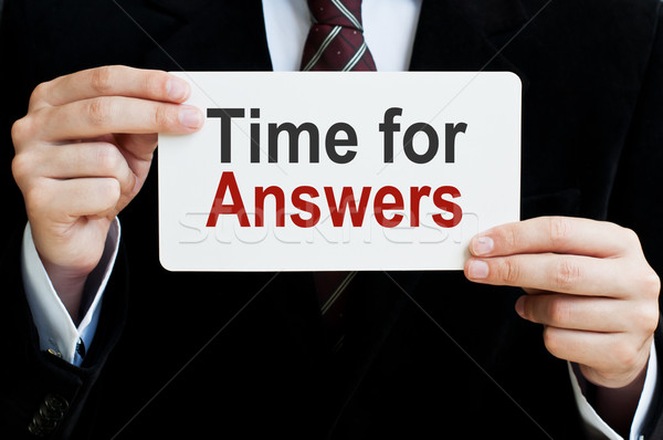 Time for Answers Stock photo © burtsevserge