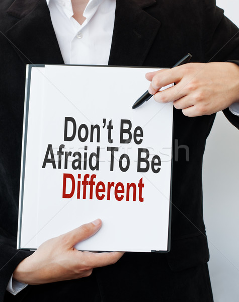 Don't Be Afraid To Be Different Stock photo © burtsevserge