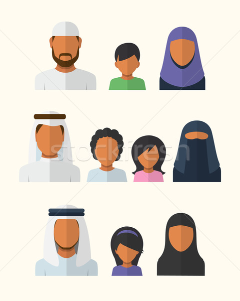 Stock photo: Arabic Families